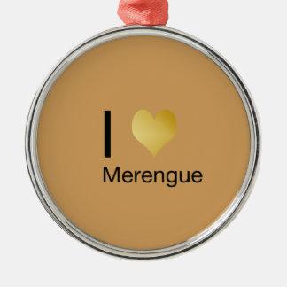 Playfully elegantes i-Herz Merengue Rundes Silberfarbenes Ornament