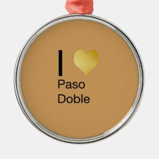 Playfully elegantes i-Herz Paso Doble Rundes Silberfarbenes Ornament
