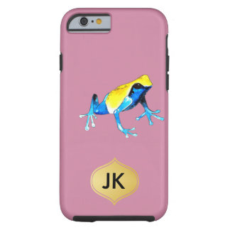 Playfully entzückender blauer u. gelber tough iPhone 6 hülle