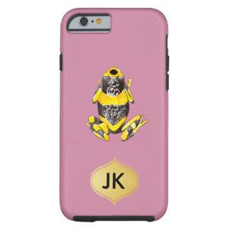 Playfully entzückender gelber u. schwarzer tough iPhone 6 hülle
