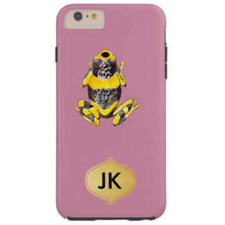 Playfully entzückender gelber u. schwarzer tough iPhone 6 plus hülle