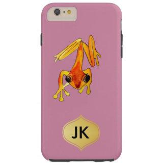 Playfully entzückender orange u. gelber tough iPhone 6 plus hülle