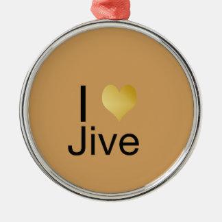 Playfully Jive elegantes i-Herz Rundes Silberfarbenes Ornament