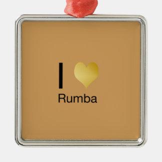 Playfully Rumba elegantes i-Herz Quadratisches Silberfarbenes Ornament
