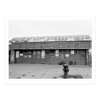 """Playland Säulengang"" (Coney Island, NY) Postkarte"