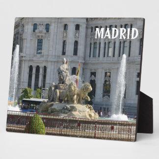 Plaza de Cibeles, Madrid Fotoplatte