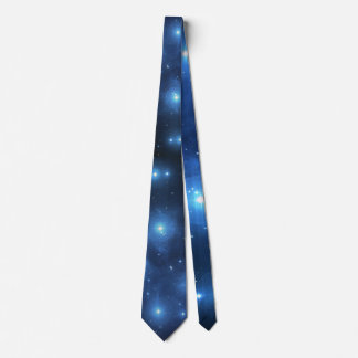 Pleiades oder die sieben Schwestern M45 Bedruckte Krawatte
