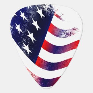 Plektrum der amerikanischen Flagge