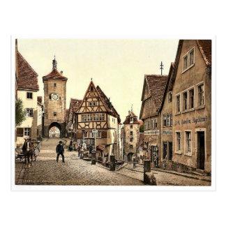 Ploenlein, Rothenburg (d.h. ob der Tauber), Bavari Postkarte