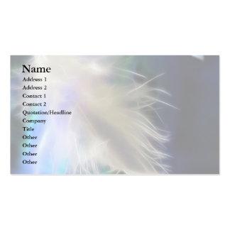 Plume d'ange carte de visite standard