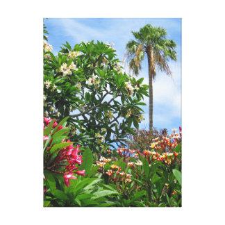 Plumeria-Garten Leinwanddruck