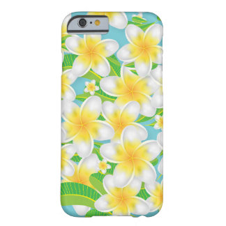 Plumeria-Strand-Blumen u. blauer Himmel Barely There iPhone 6 Hülle
