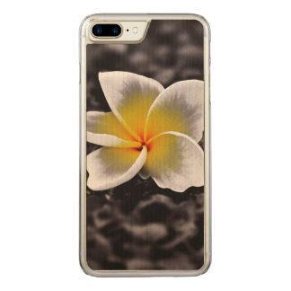 Plumeriafrangipani-Hawaii-Blume Carved iPhone 8 Plus/7 Plus Hülle