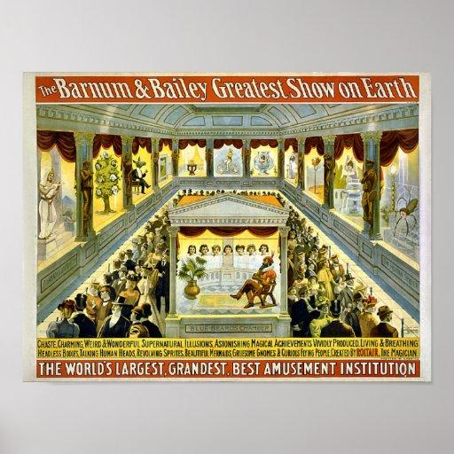 Plus grande exposition vintage de Barnum et de Bai Posters
