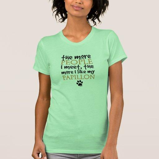 Plus les personnes je rencontre… Papillon T-shirt