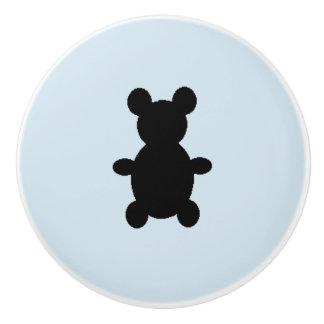 Plus petite traction noire d'ours pour le bébé bouton de porte en céramique