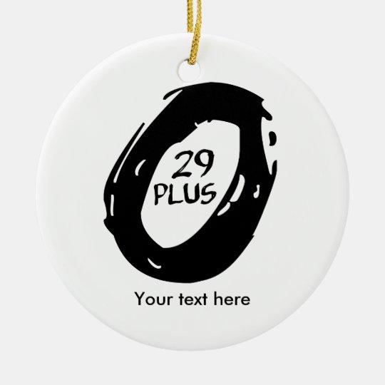PlusMountainbike 29 Rundes Keramik Ornament