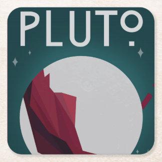 Pluto-Raum-Untersetzer Rechteckiger Pappuntersetzer