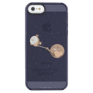 Pluto Selfie Durchsichtige iPhone SE/5/5s Hülle
