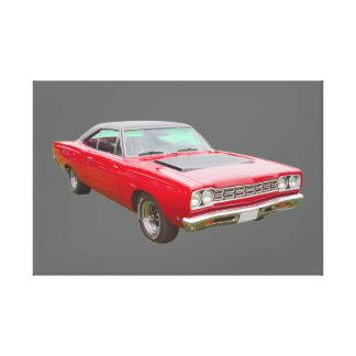 Plymouthroadrunner-Muskel-Auto 1968 Leinwanddruck