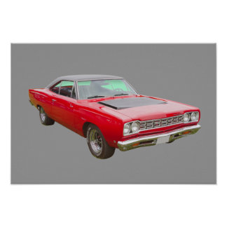 Plymouthroadrunner-Muskel-Auto 1968 Poster