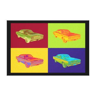Plymouthroadrunner-Muskel-Auto-Pop-Kunst 1968 Leinwanddruck