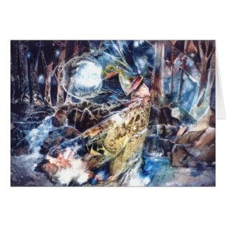 PMACarlson Birdman in der Holz-Karte Karte