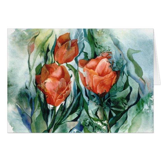 PMACarlson orange Tulpe-Karte Grußkarte