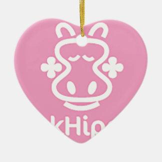 PnkHippo Logo Keramik Herz-Ornament