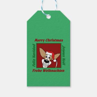 Podenco Weihnachten Geschenkanhänger