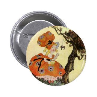 Poème vintage de comptine d'oie de mère badge rond 5 cm