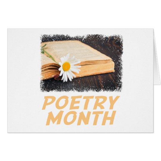 Poesie-Monat Grußkarte