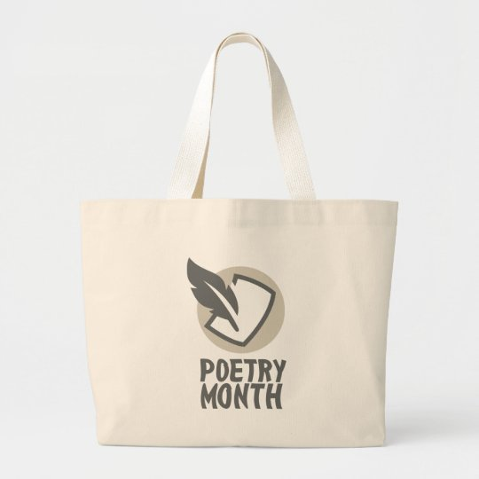 Poesie-Monat Jumbo Stoffbeutel