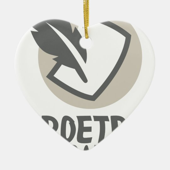 Poesie-Monat Keramik Herz-Ornament