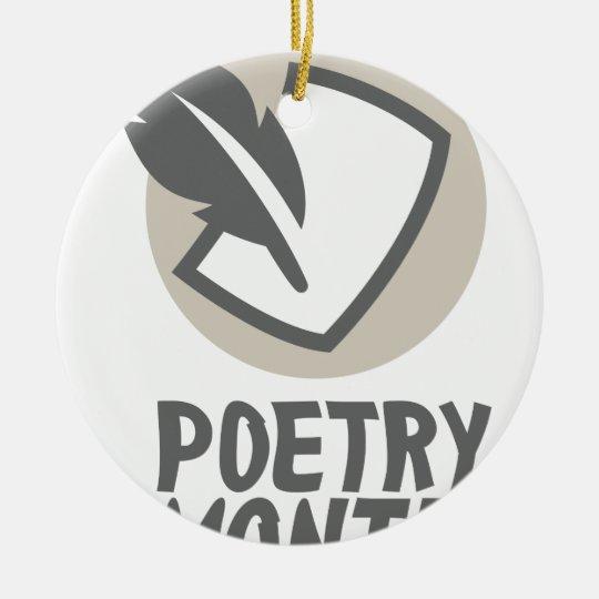 Poesie-Monat Keramik Ornament