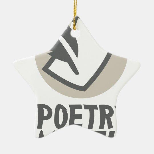 Poesie-Monat Keramik Stern-Ornament