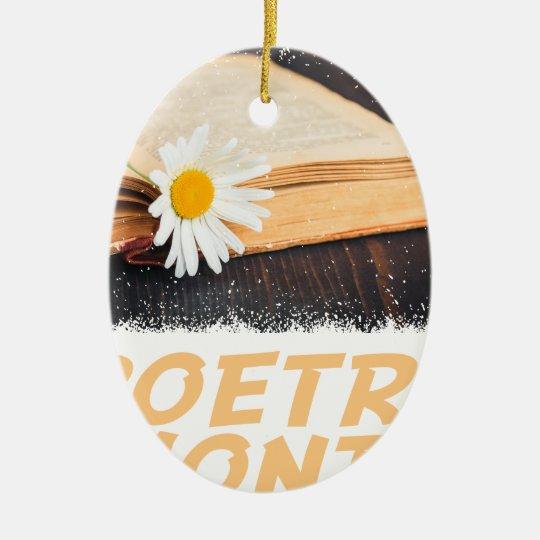 Poesie-Monat Ovales Keramik Ornament