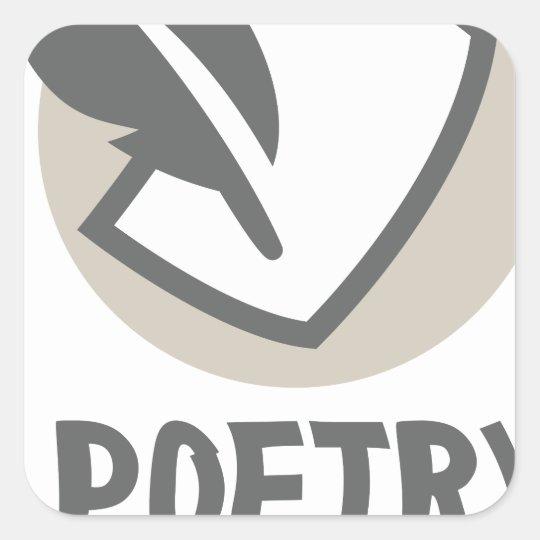 Poesie-Monat Quadratischer Aufkleber