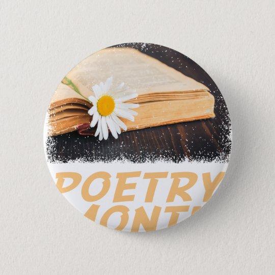 Poesie-Monat Runder Button 5,7 Cm