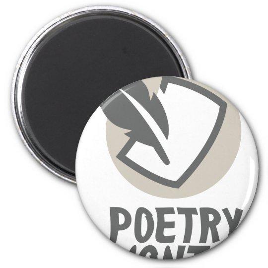 Poesie-Monat Runder Magnet 5,7 Cm