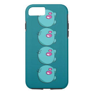 Pogo O.o cyan-blauer Telefon-Kasten iPhone 7 Hülle