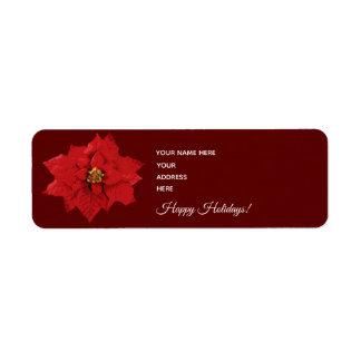 Poinsettia - Adressen-Etiketten