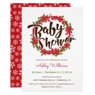 Poinsettia-Babyparty-Einladung Karte