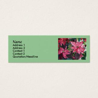 Poinsettia-dünne Visitenkarten