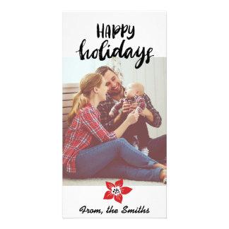 Poinsettia-Feiertags-Karte - addieren Sie Ihr Karte