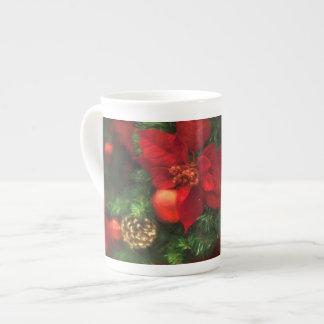 Poinsettia-Schönheits-Tasse Prozellantasse