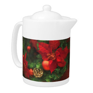 Poinsettia-Schönheits-Teekanne