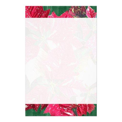 poinsettia weihnachtsbriefpapier bedrucktes papier zazzle. Black Bedroom Furniture Sets. Home Design Ideas