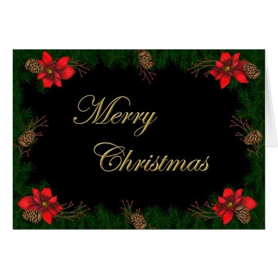 Poinsettia-Weihnachtskarte Grußkarte