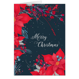 Poinsettia-Weihnachtskarte Karte